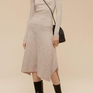Wilfred Rochaix Wool Asymmetrical Skirt